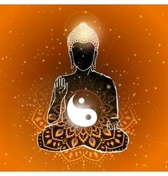 Buddha art vector