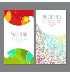 business cardbusiness card with an ornament vector image