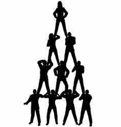 business people pyramid vector image vector image