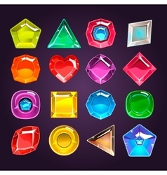 Cartoon colored stones with different shapes for vector image vector image