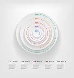 Concentrate chart color infographics step by step vector