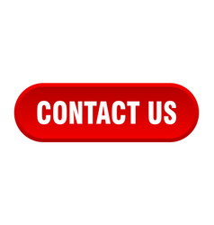 contact us button us rounded red sign vector image