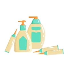 Cream Lotion And Sopa Dispencer Containers vector