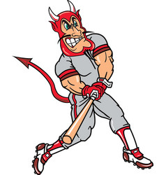 Devil sports baseball logo mascot vector