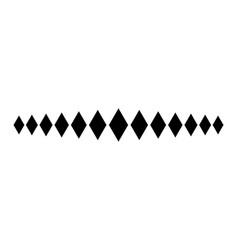 diamond line footer divider design diagonal vector image