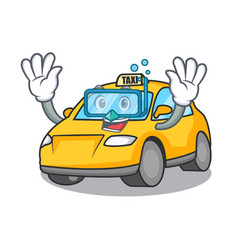 Diving taxi character cartoon style vector