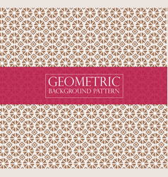 Editable abstract geometric pattern - vintage vector