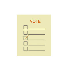 Election voting ballot presidential election 2020 vector