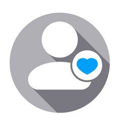 Favorite heart people rate user icon vector
