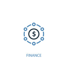 Finance concept 2 colored icon simple blue vector