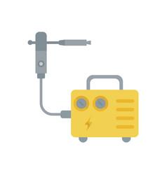 flat a welding machine vector image