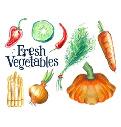 gardening logo design template fresh food vector image