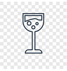 glass with wine concept linear icon isolated on vector image