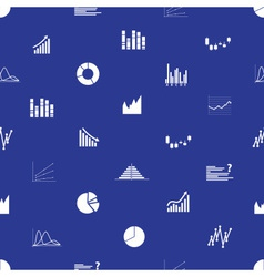 graphs icons seamless pattern eps10 vector image