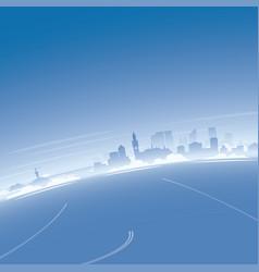 Hague skyline aerial view vector