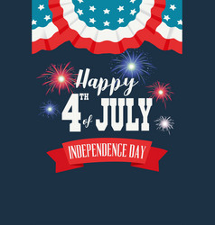 Happy fourth of july poster vector