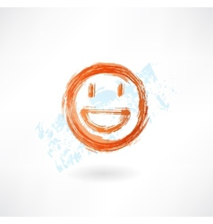 happy grunge icon vector image vector image
