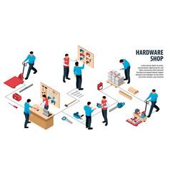 Hardware shop infographics vector