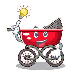 Have an idea modern baby stroller isolated against vector