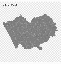 high quality map is a region russia vector image