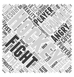 How game hockey is played word cloud vector