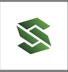 initial s logo abstract icon vector image