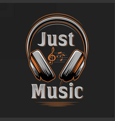just music vintage musical tshirt design vector image