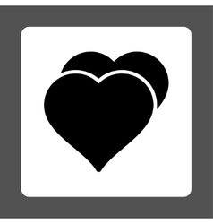 Love icon from Award Buttons OverColor Set vector image
