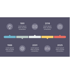 Metaball triangles timeline infographic vector