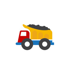 Mining truck icon design template isolated vector