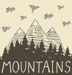 Mountain nature4 vector image