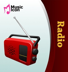 music radio vector image