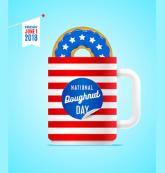 national donut day vector image