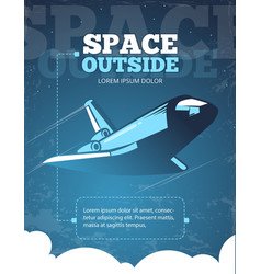 Outer space universe adventure galaxy travel vector