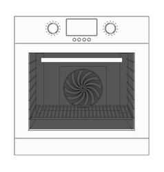 Oven outline technical drawing vector