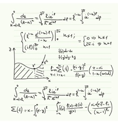 Pattern with mathematical formulas vector