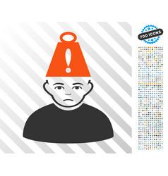 person heavy stress flat icon with bonus vector image