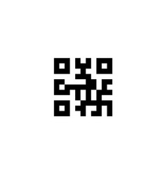 qr code flat icon vector image