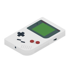 retro portable game console in isometric view vector image