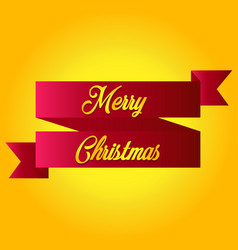 ribbon label tags merry christmas and happy new vector image