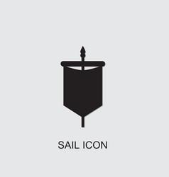 Sail icon vector
