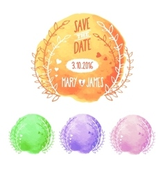 Save The Date Watercolor Set vector