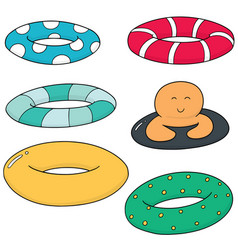 Set of life ring vector