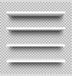 set store shelves front view white empty shop vector image