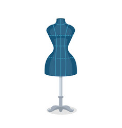 Sewing mannequin flat vector
