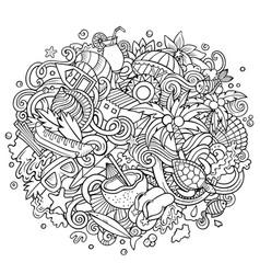 Seychelles hand drawn cartoon doodles vector