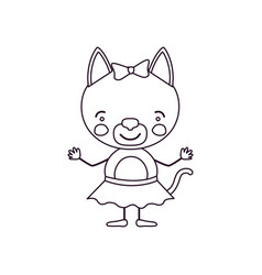 sketch contour caricature of cute expression vector image