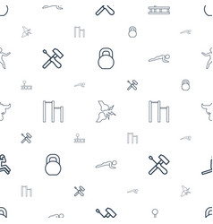strong icons pattern seamless white background vector image