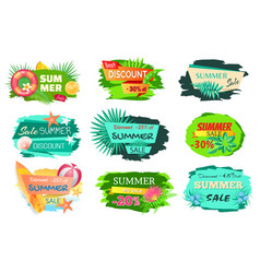 summer time sale 20 percent vector image