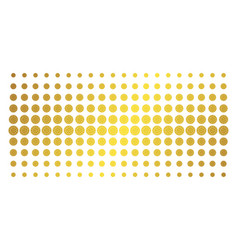 sunflower gold halftone effect vector image